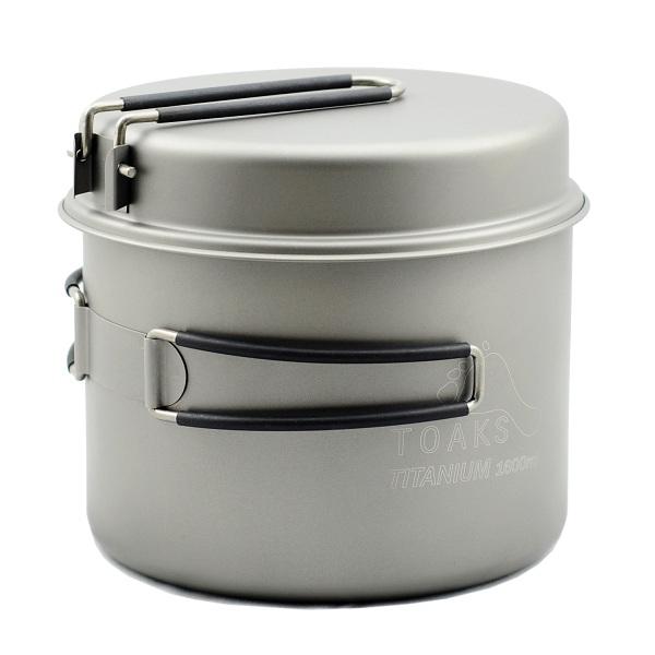 Vas 1600ml Pot with Pan Toaks Titanium