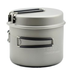 Vas 1600ml Pot with Pan Toaks Titanium