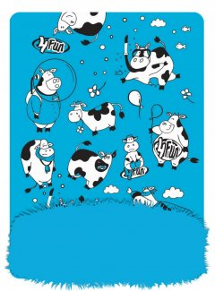 funny cow blue kid therm