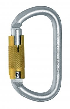 Carabiniera Singing Rock, de otel, ovala, 30 kN, Triple Lock, K4241ZO07