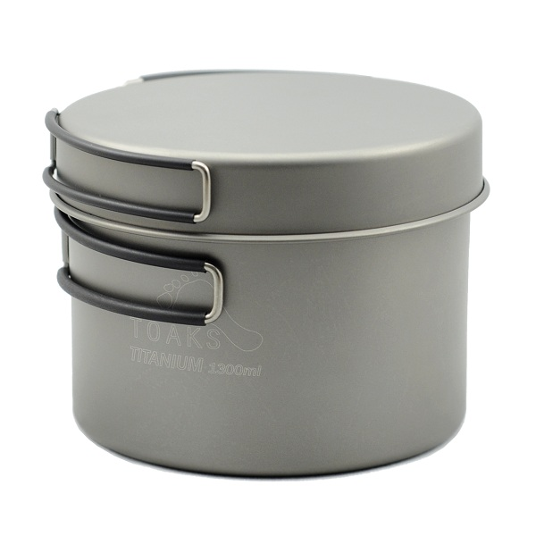 Vas 1300ml Pot with Pan Toaks Titanium