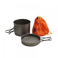 Vas 1300 ml Pot with Pan Titanium cu saculet